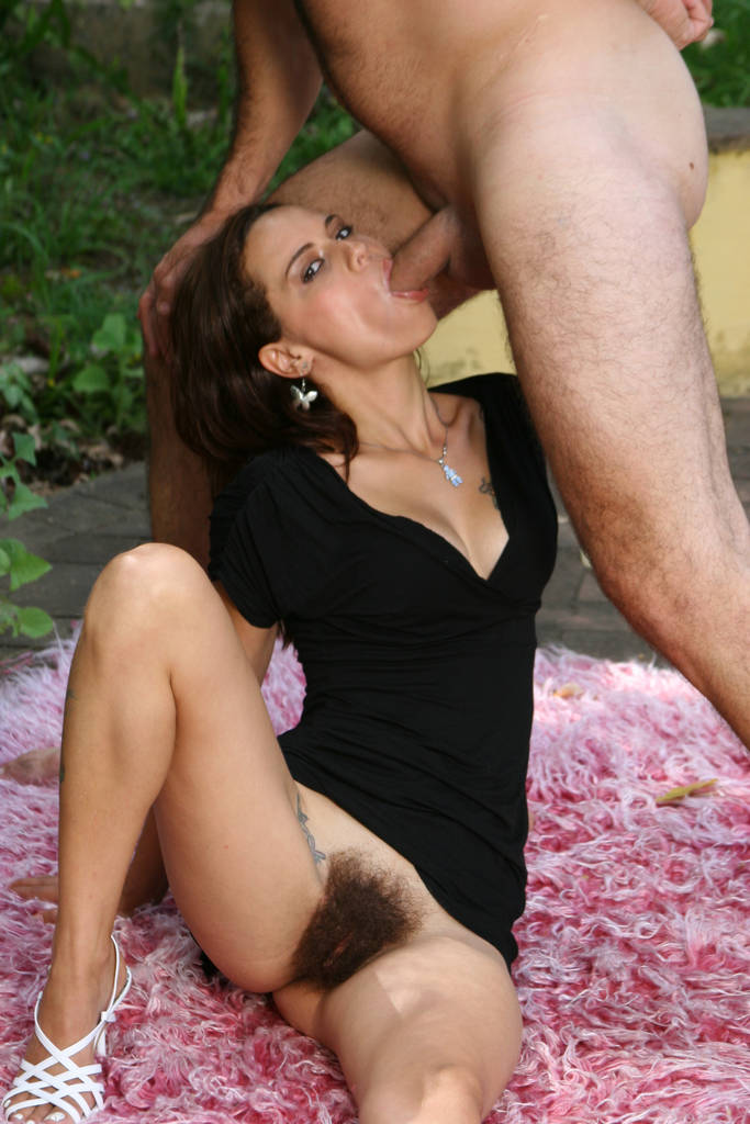Sweet hairy redhead outdoor sex